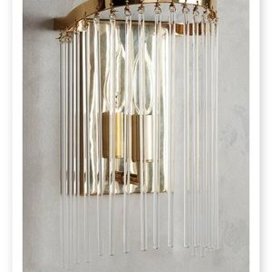 ANTHROPOLOGIE arched waterfall sconce new in box
